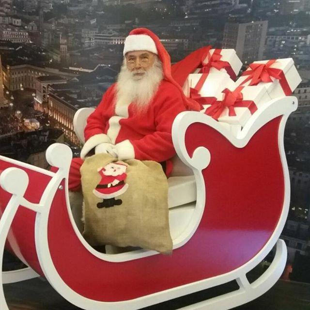 vero Babbo Natale on slitta
