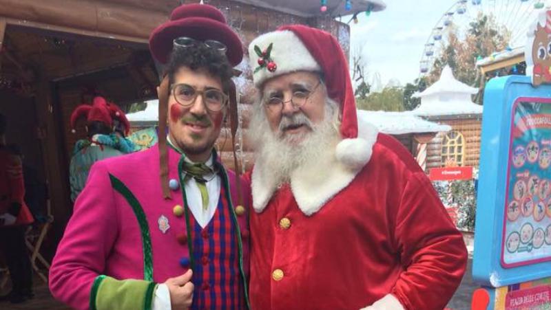 Babbo Natale e elfo