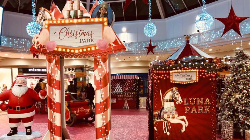 set Natalizio con Babbo Natale finto