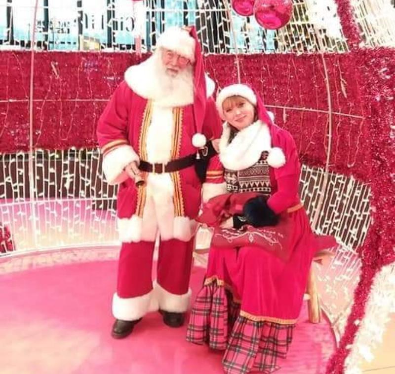 evento con Babbo Natale e signora Claus