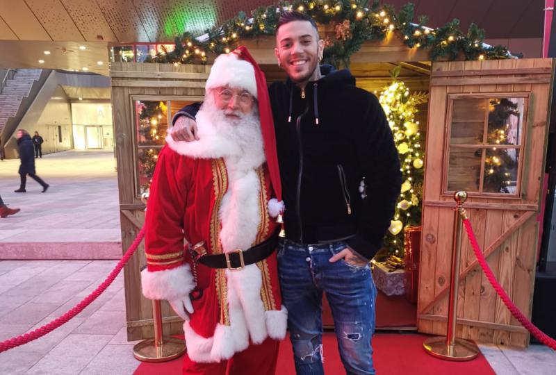 Babbo Natale e ragazzo