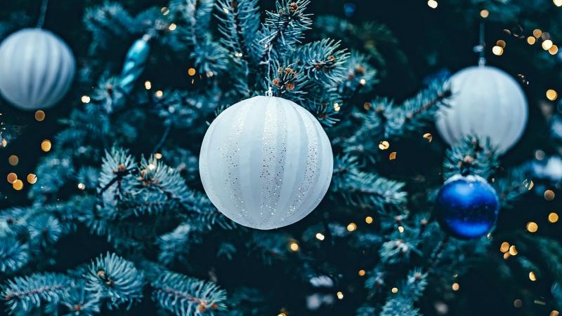 palline di Natale azzurre