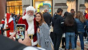 foto ricordo con Babbo Natale