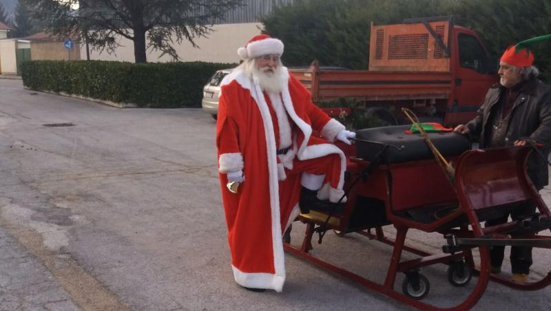 Babbo Natale e slitta