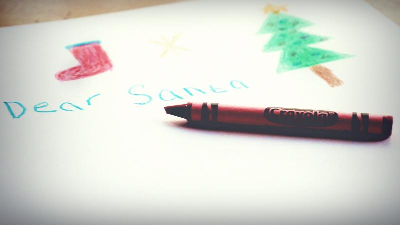 lettera a babbo Natale decorata