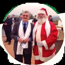 D'alema con Vero Babbo Natale