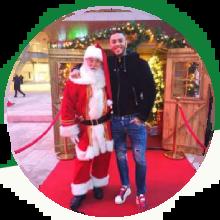 Emis Killa con Vero Babbo Natale
