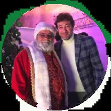 Ciro Ferrara con Vero Babbo Natale